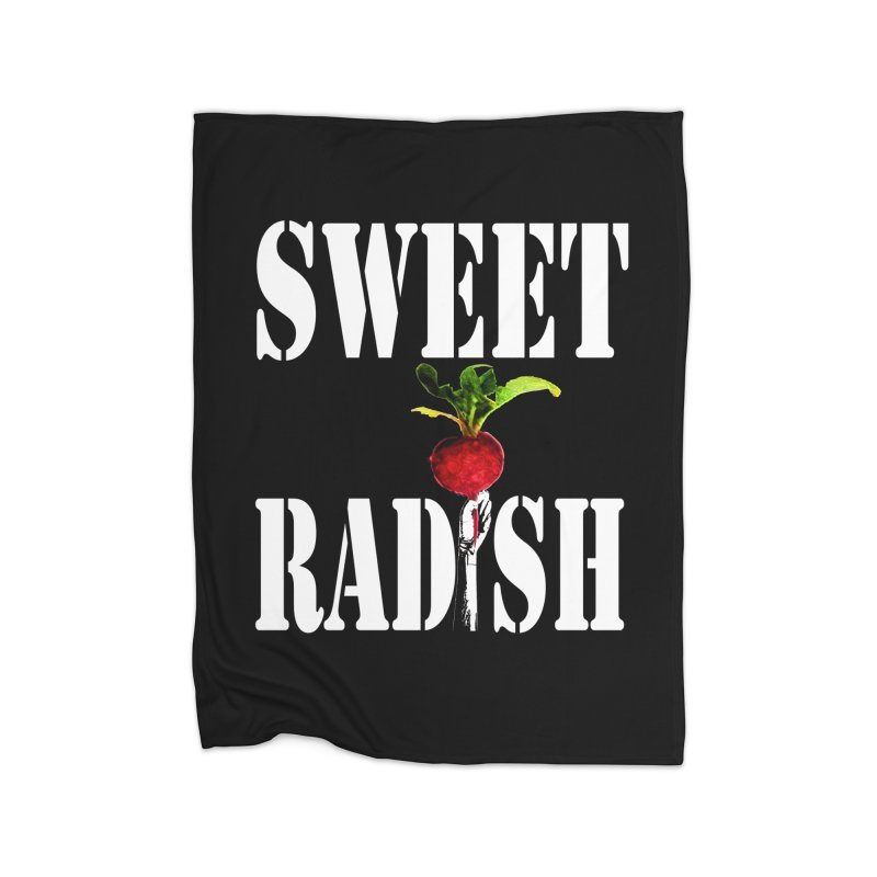 Sweet Radish Stencil Home Fleece Blanket Blanket by jackrabbithollow's Artist Shop