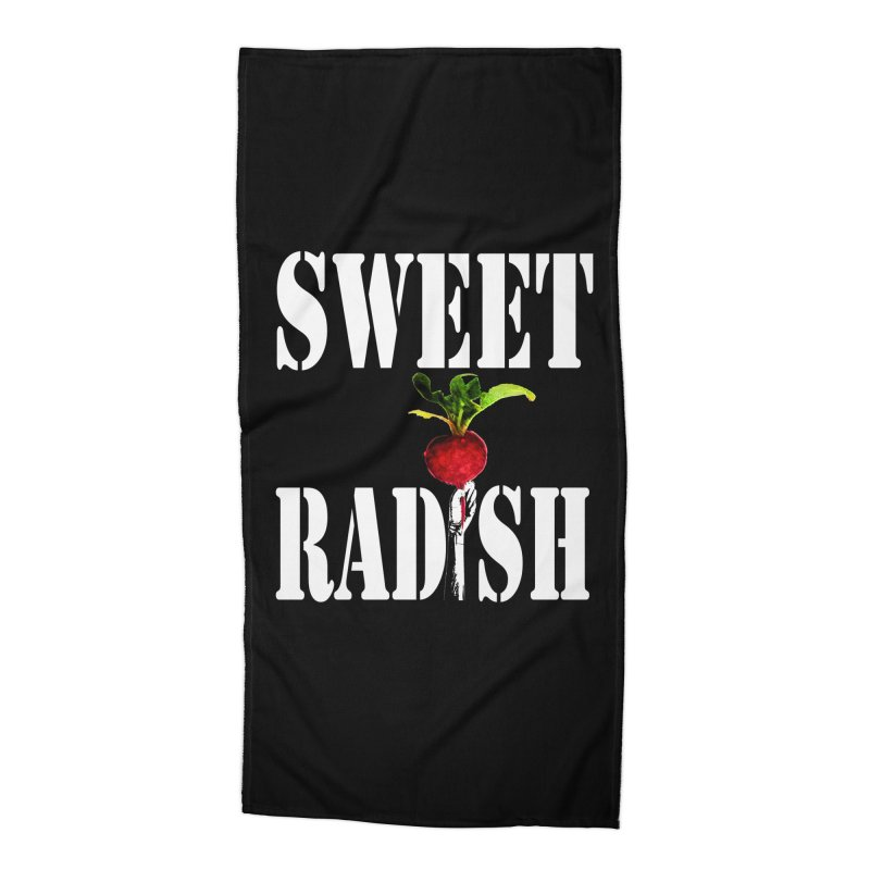 Sweet Radish Stencil Accessories Beach Towel by jackrabbithollow's Artist Shop