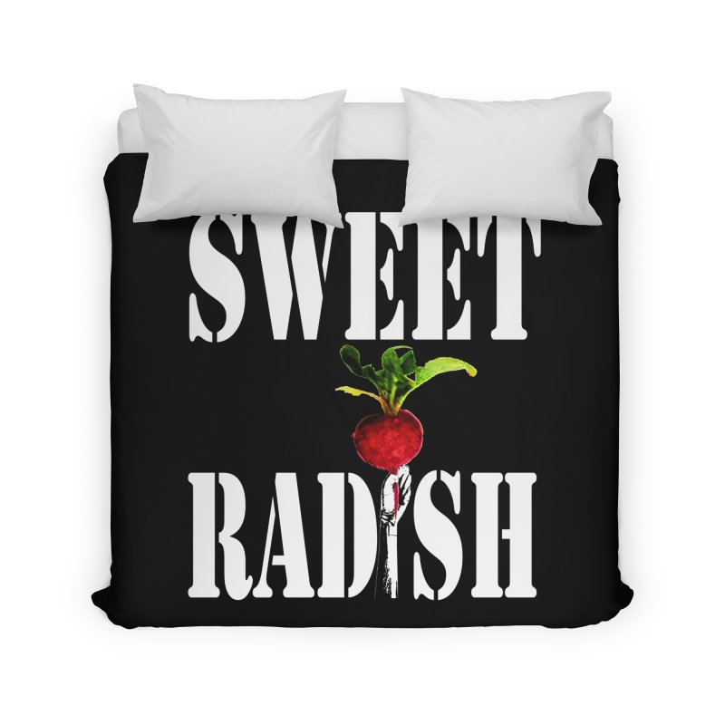 Sweet Radish Stencil Home Duvet by jackrabbithollow's Artist Shop