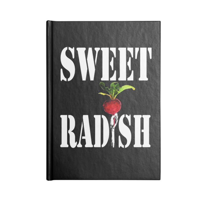 Sweet Radish Stencil Accessories Lined Journal Notebook by jackrabbithollow's Artist Shop