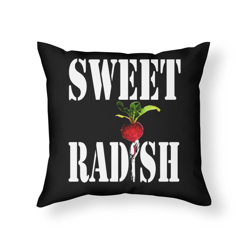 Sweet Radish Stencil Home Throw Pillow by jackrabbithollow's Artist Shop