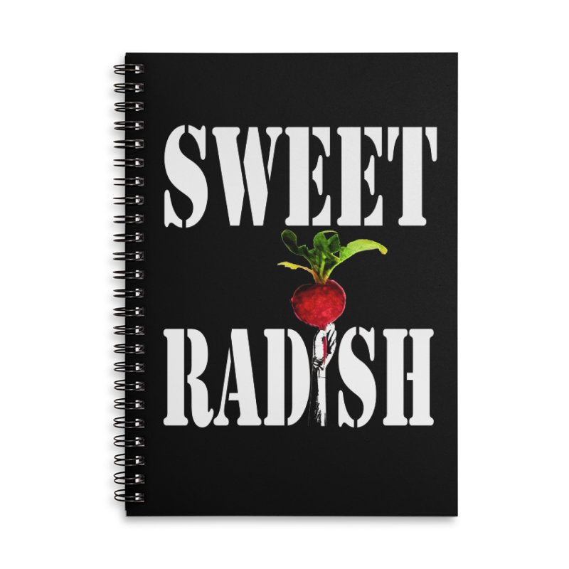 Sweet Radish Stencil Accessories Lined Spiral Notebook by jackrabbithollow's Artist Shop