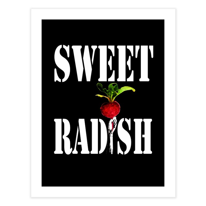 Sweet Radish Stencil Home Fine Art Print by jackrabbithollow's Artist Shop