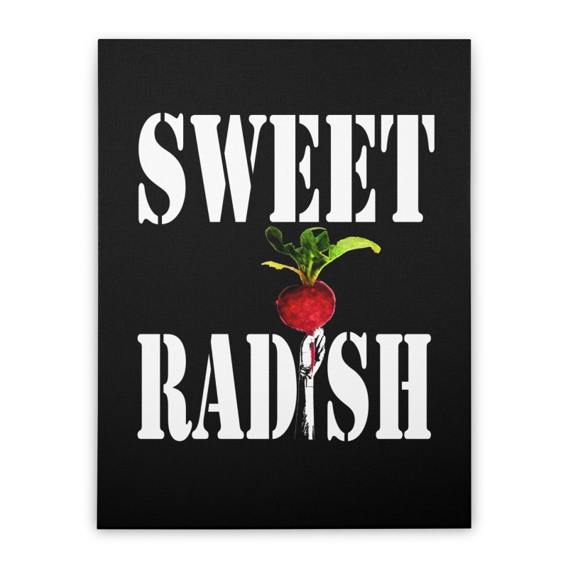 Sweet Radish Stencil Home Stretched Canvas by jackrabbithollow's Artist Shop