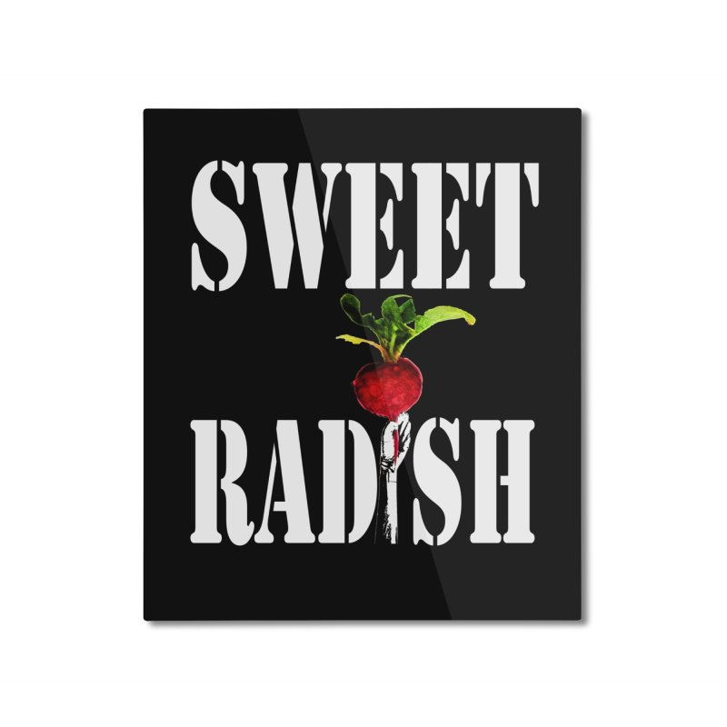 Sweet Radish Stencil Home Mounted Aluminum Print by jackrabbithollow's Artist Shop