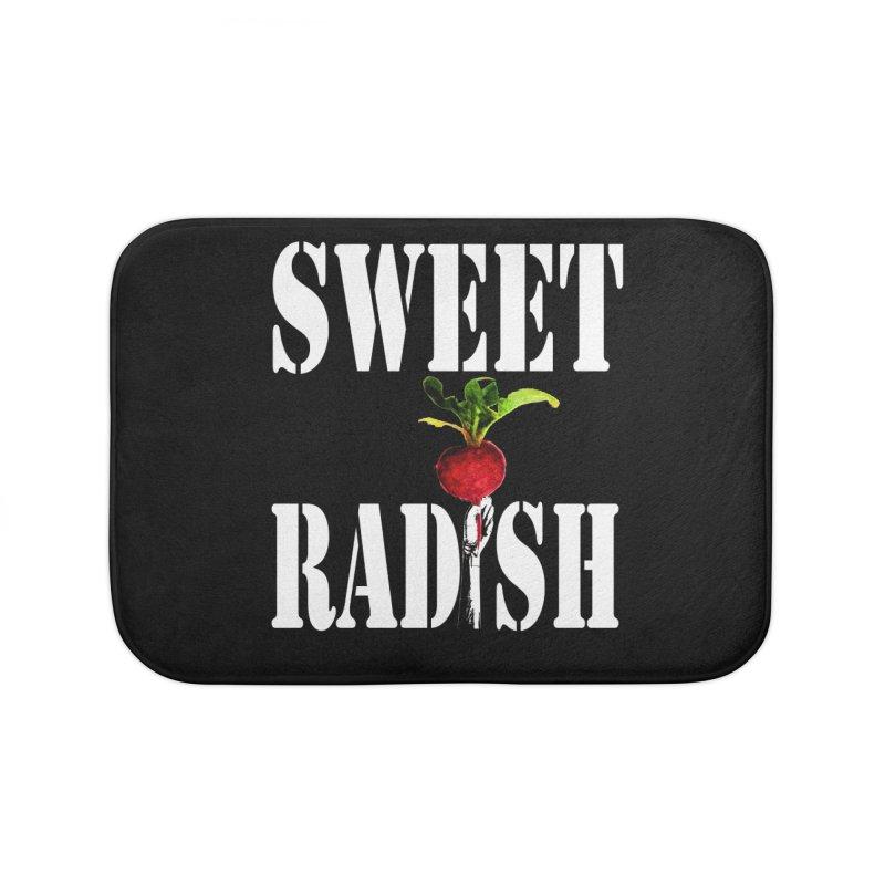 Sweet Radish Stencil Home Bath Mat by jackrabbithollow's Artist Shop