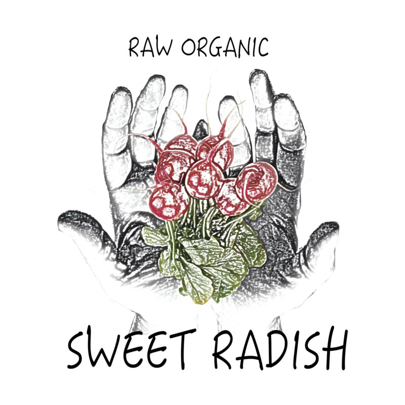 SWEET RADISH LOGO- Raw Organic Men's T-Shirt by jackrabbithollow's Artist Shop