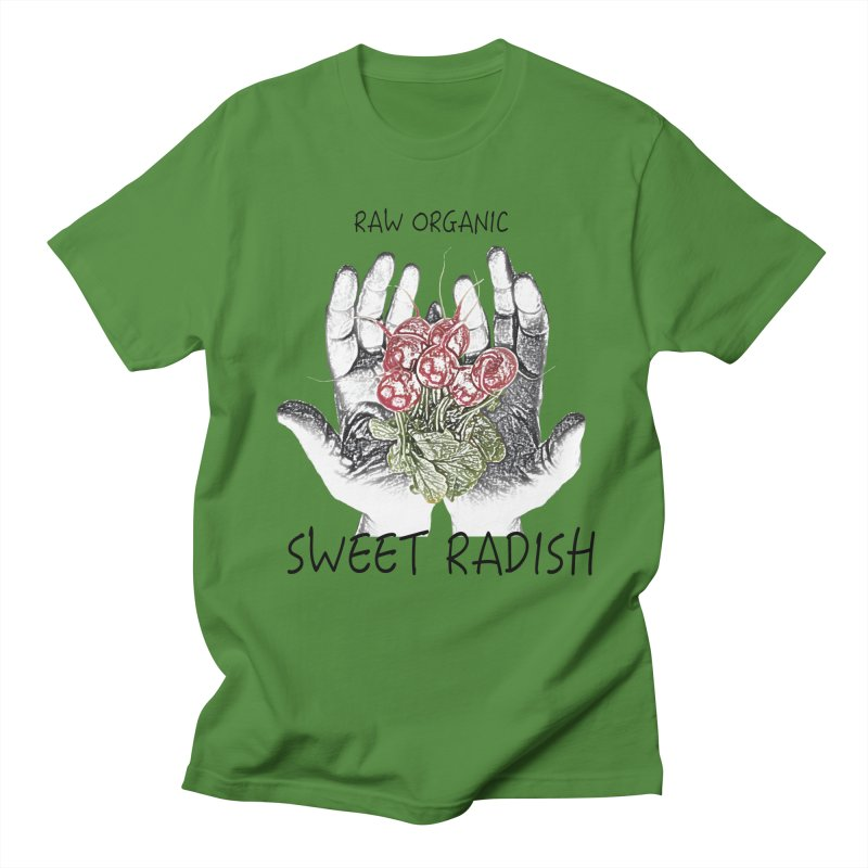 SWEET RADISH LOGO- Raw Organic Men's T-Shirt by jackrabbithollow's Artist Shop