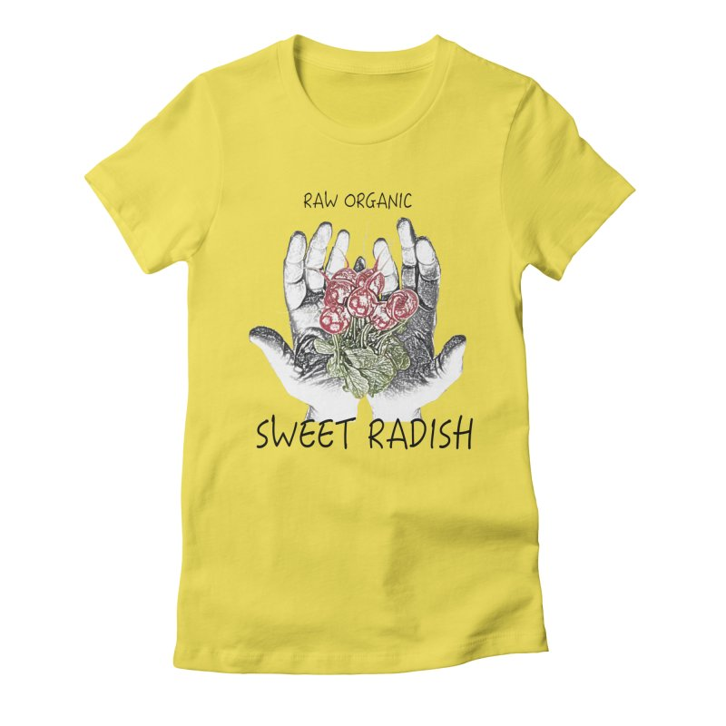 SWEET RADISH LOGO- Raw Organic Women's T-Shirt by jackrabbithollow's Artist Shop