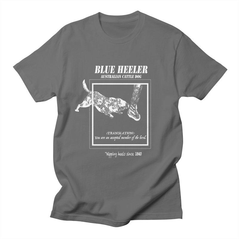 BLUE HEELER Men's T-Shirt by jackrabbithollow's Artist Shop