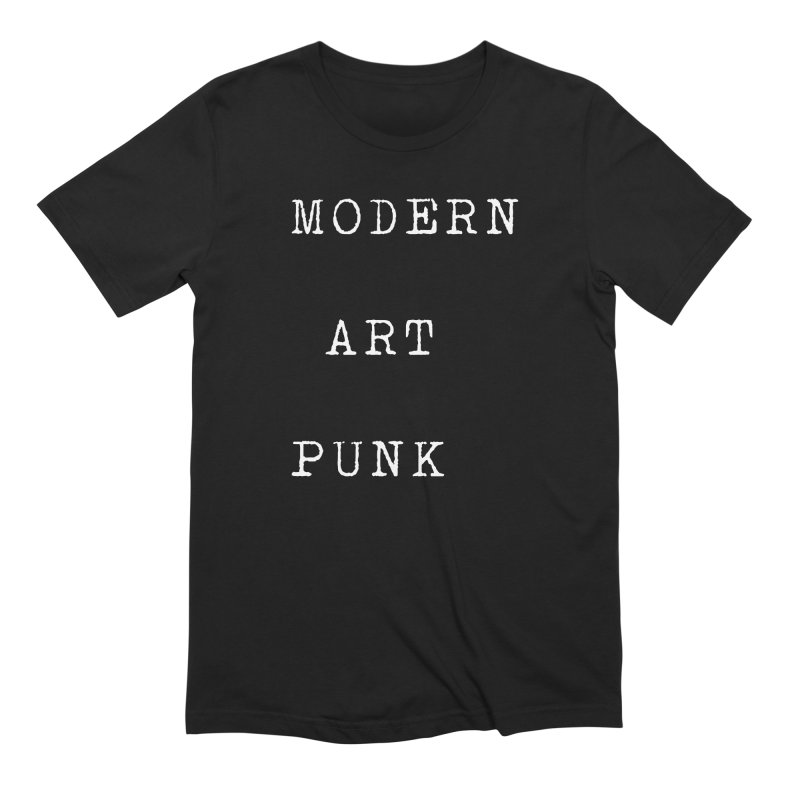 Moden Art Punk White Lettering Men's T-Shirt by Jack Walls
