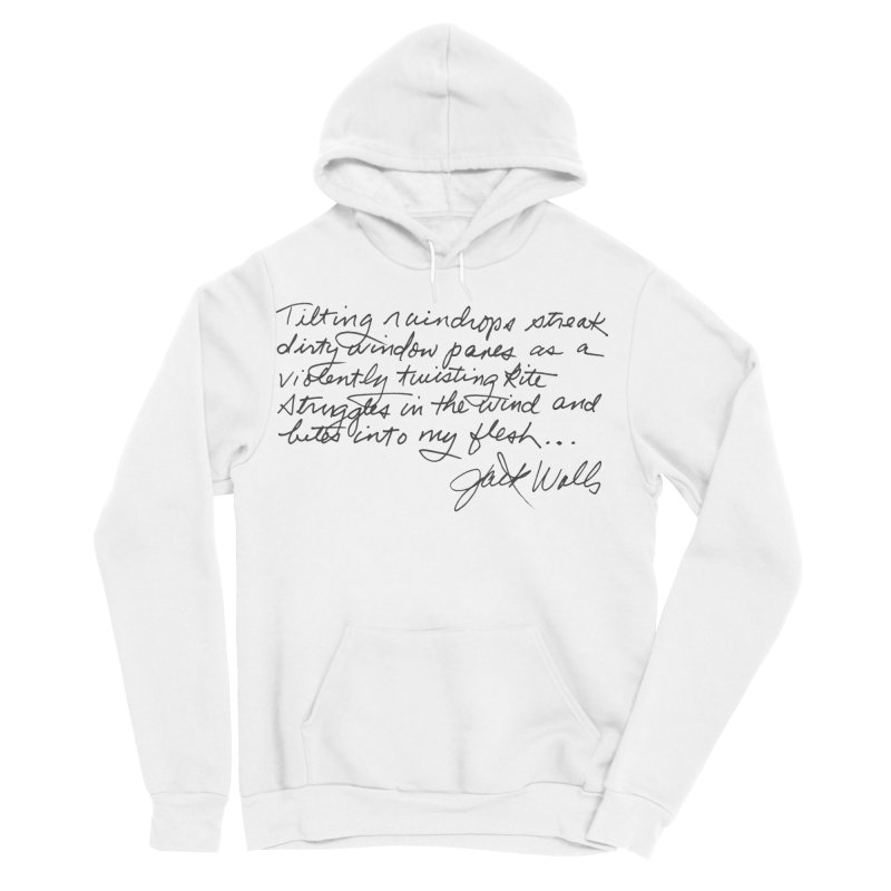 Poem in Men's Sponge Fleece Pullover Hoody White by Jack Walls