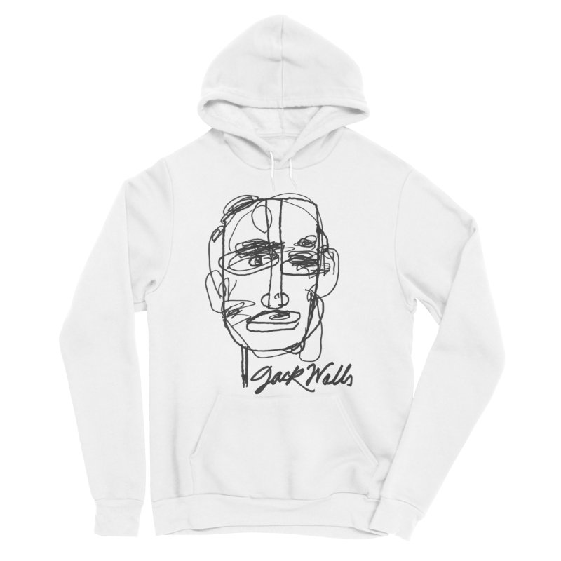 T-Shirt Alternative 'Hoodie' in Men's Sponge Fleece Pullover Hoody White by Jack Walls