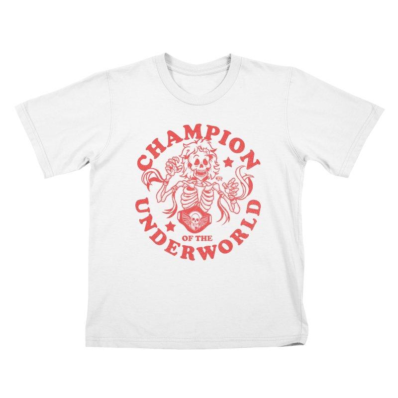 Champion of the Underworld Kids T-Shirt by JCP Designs - Original Designs by Jacob C. Paul