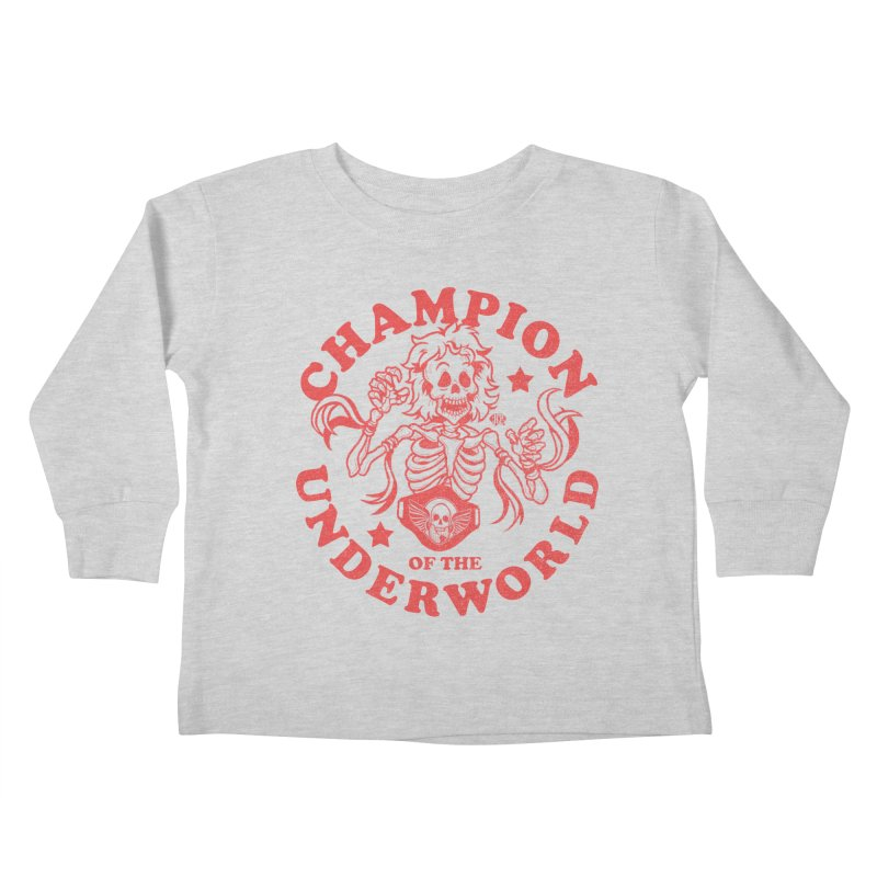 Champion of the Underworld Kids Toddler Longsleeve T-Shirt by JCP Designs - Original Designs by Jacob C. Paul