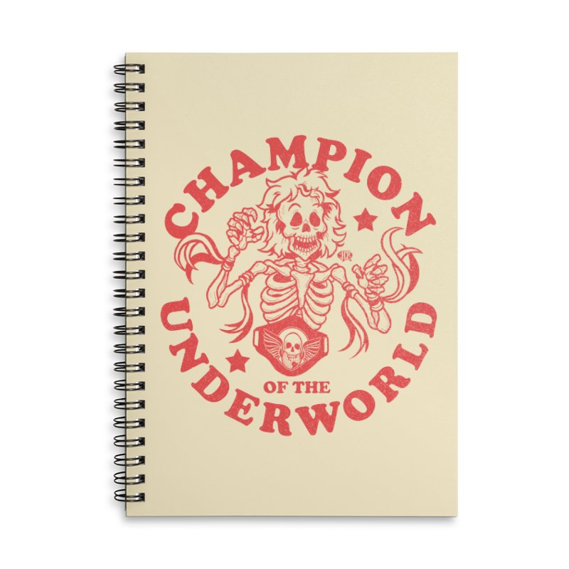 Champion of the Underworld Accessories Notebook by JCP Designs - Original Designs by Jacob C. Paul