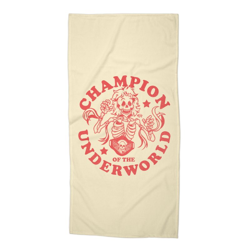 Champion of the Underworld Accessories Beach Towel by JCP Designs - Original Designs by Jacob C. Paul