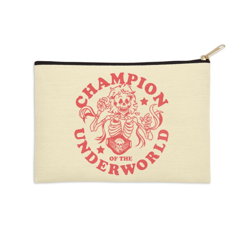 Champion of the Underworld Accessories Zip Pouch by JCP Designs - Original Designs by Jacob C. Paul