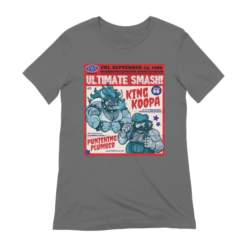 Video Wrestling Association Presents Ultimate Smash! Women's T-Shirt by JCP Designs - Original Designs by Jacob C. Paul