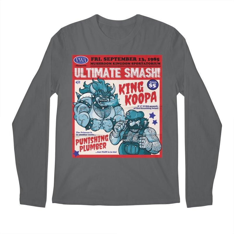 Video Wrestling Association Presents Ultimate Smash! Men's Longsleeve T-Shirt by JCP Designs - Original Designs by Jacob C. Paul