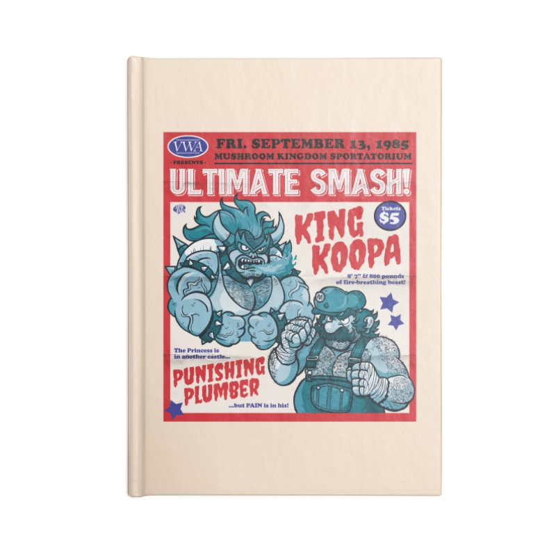 Video Wrestling Association Presents Ultimate Smash! Accessories Notebook by JCP Designs - Original Designs by Jacob C. Paul