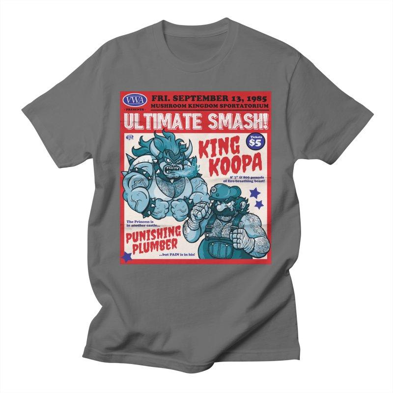 Video Wrestling Association Presents Ultimate Smash! Men's T-Shirt by JCP Designs - Original Designs by Jacob C. Paul