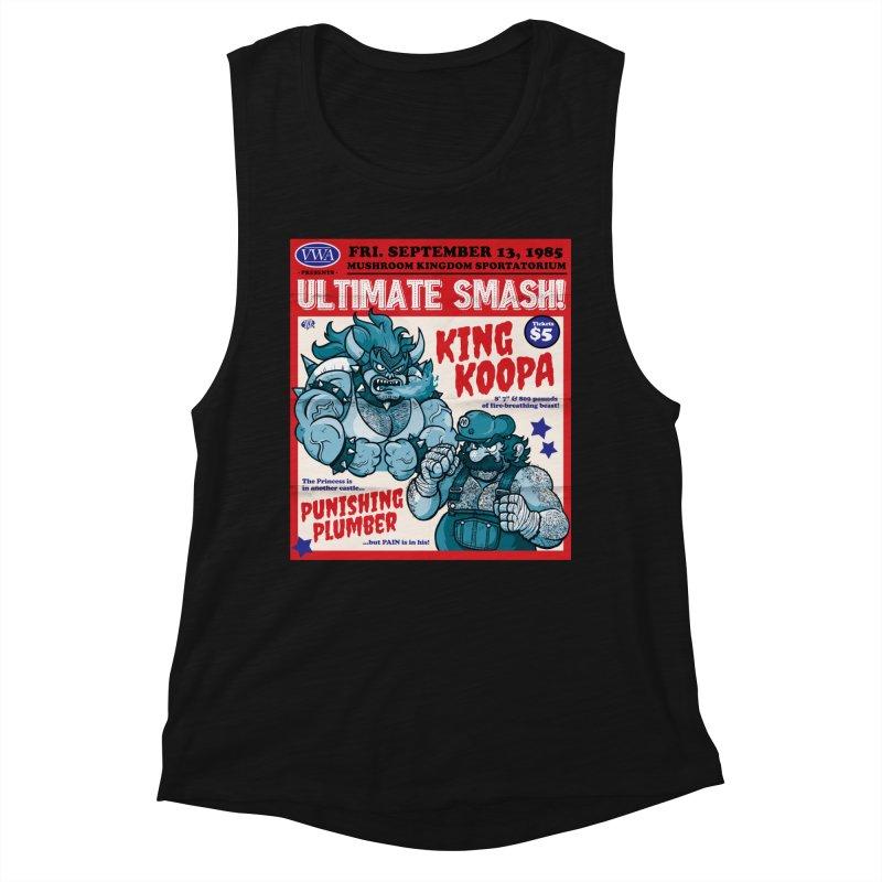 Video Wrestling Association Presents Ultimate Smash! Women's Tank by JCP Designs - Original Designs by Jacob C. Paul