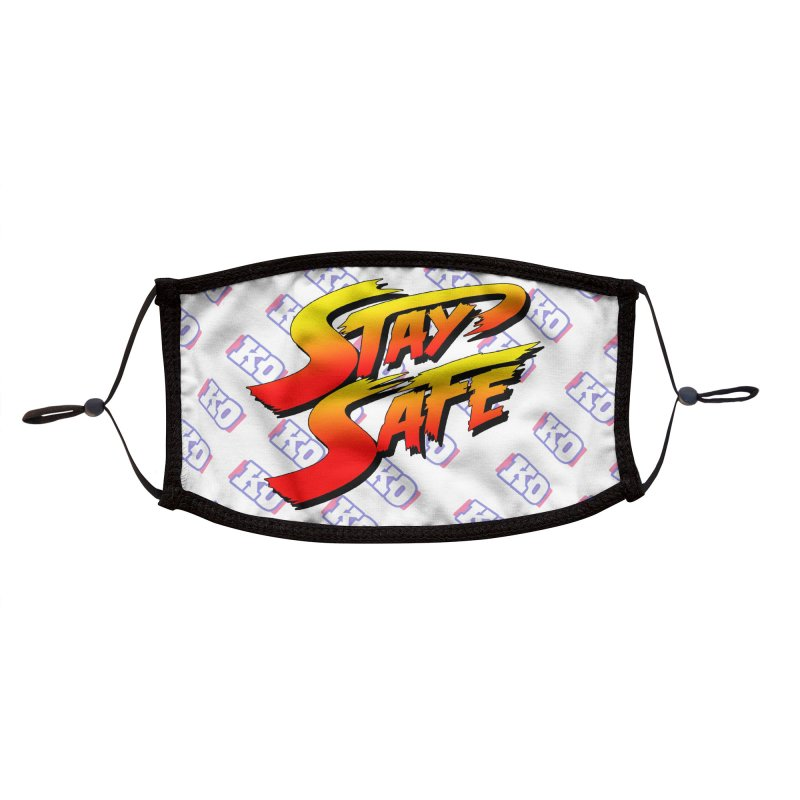 Stay Safe (Champion Edition) Accessories Face Mask by JCP Designs - Original Designs by Jacob C. Paul