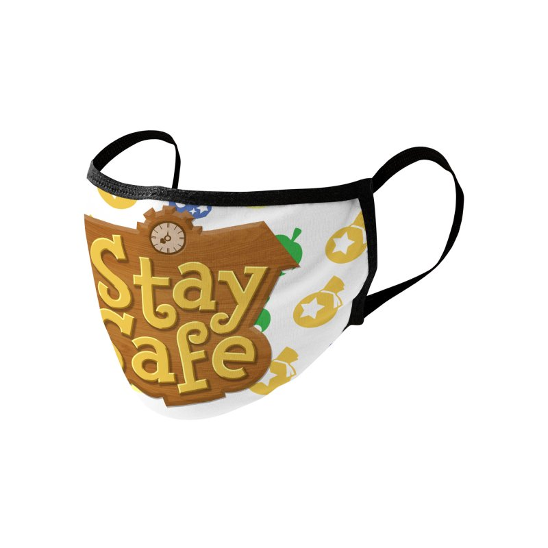 Stay Safe (Happy Home Edition) Accessories Face Mask by JCP Designs - Original Designs by Jacob C. Paul