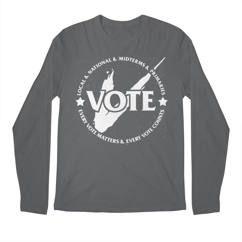 Vote (Light Text) - Fair Fight Charity Design Men's Longsleeve T-Shirt by JCP Designs - Original Designs by Jacob C. Paul