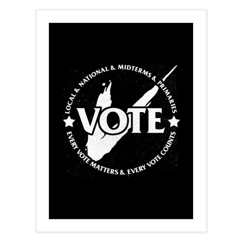 Vote (Light Text) - Fair Fight Charity Design Home Fine Art Print by JCP Designs - Original Designs by Jacob C. Paul