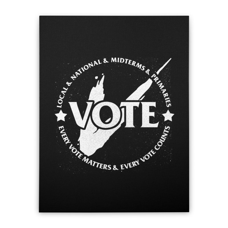 Vote (Light Text) - Fair Fight Charity Design Home Stretched Canvas by JCP Designs - Original Designs by Jacob C. Paul