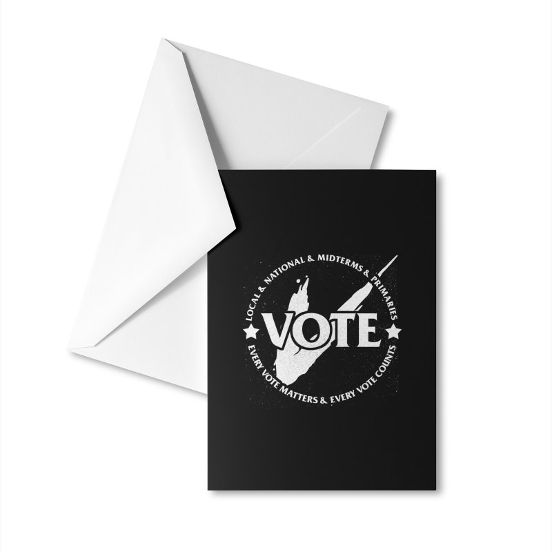Vote (Light Text) - Fair Fight Charity Design Accessories Greeting Card by JCP Designs - Original Designs by Jacob C. Paul