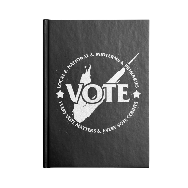 Vote (Light Text) - Fair Fight Charity Design Accessories Notebook by JCP Designs - Original Designs by Jacob C. Paul