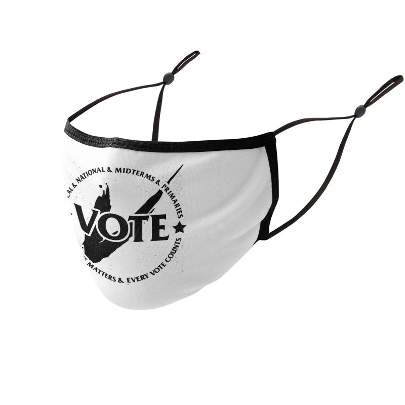 Vote (Dark Text) - Fair Fight Charity Design Accessories Face Mask by JCP Designs - Original Designs by Jacob C. Paul