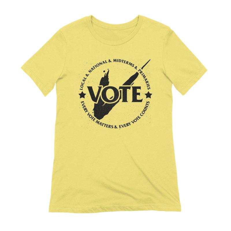 Vote (Dark Text) - Fair Fight Charity Design Women's T-Shirt by JCP Designs - Original Designs by Jacob C. Paul
