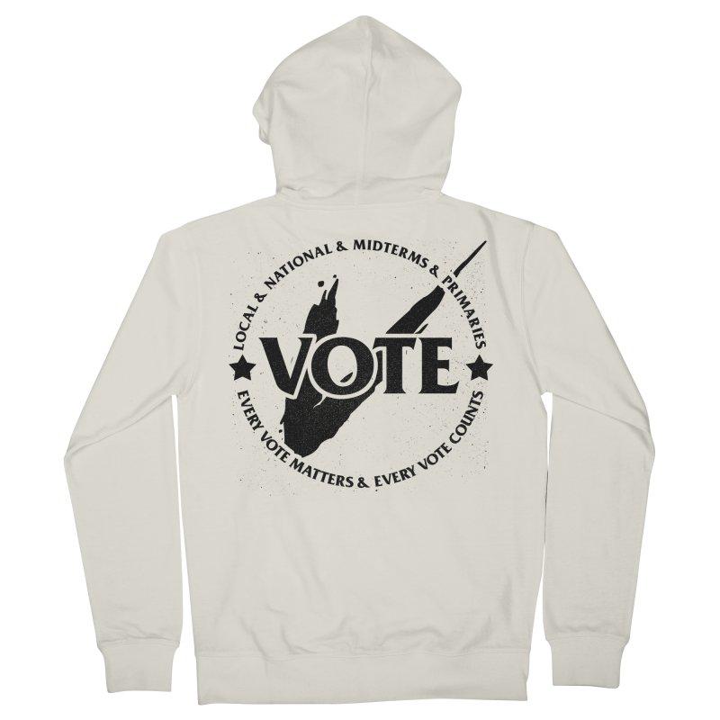 Vote (Dark Text) - Fair Fight Charity Design Women's Zip-Up Hoody by JCP Designs - Original Designs by Jacob C. Paul