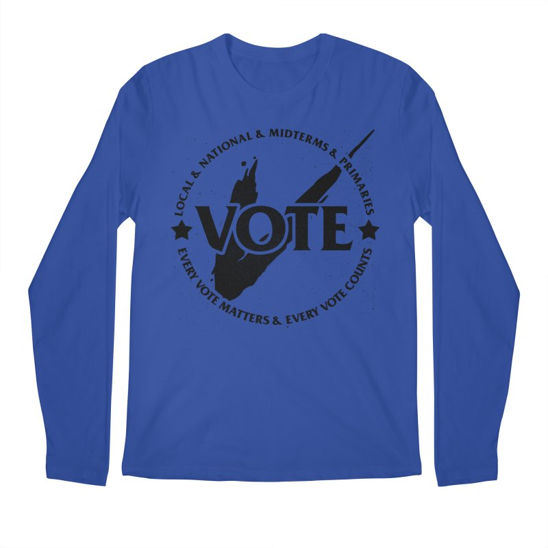Vote (Dark Text) - Fair Fight Charity Design Men's Longsleeve T-Shirt by JCP Designs - Original Designs by Jacob C. Paul