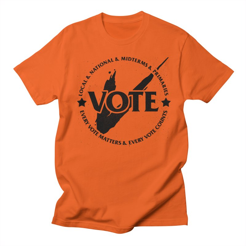 Vote (Dark Text) Men's T-Shirt by JCP Designs - Original Designs by Jacob C. Paul