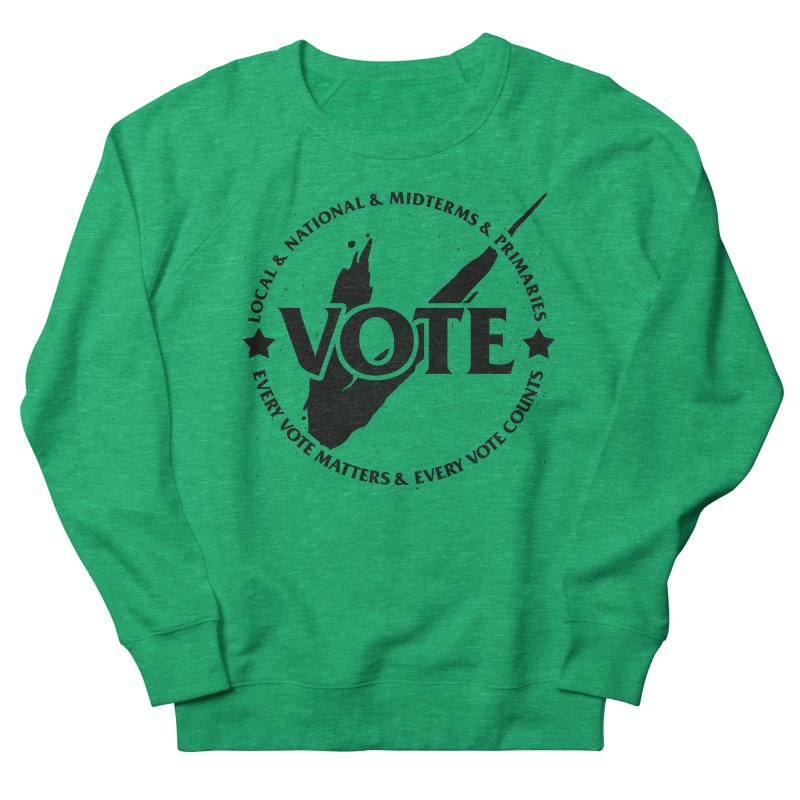 Vote (Dark Text) - Fair Fight Charity Design Women's Sweatshirt by JCP Designs - Original Designs by Jacob C. Paul