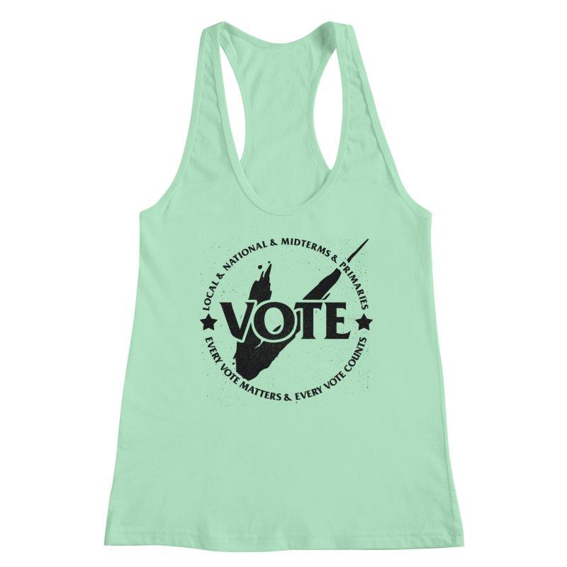 Vote (Dark Text) - Fair Fight Charity Design Women's Tank by JCP Designs - Original Designs by Jacob C. Paul