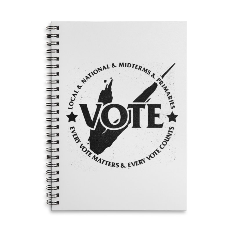 Vote (Dark Text) - Fair Fight Charity Design Accessories Notebook by JCP Designs - Original Designs by Jacob C. Paul