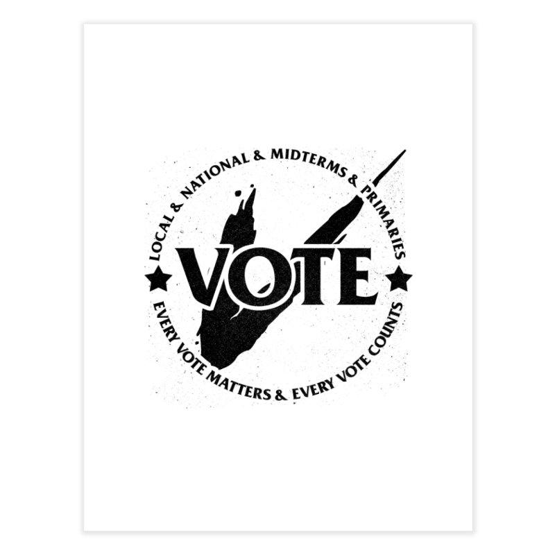 Vote (Dark Text) - Fair Fight Charity Design Home Fine Art Print by JCP Designs - Original Designs by Jacob C. Paul