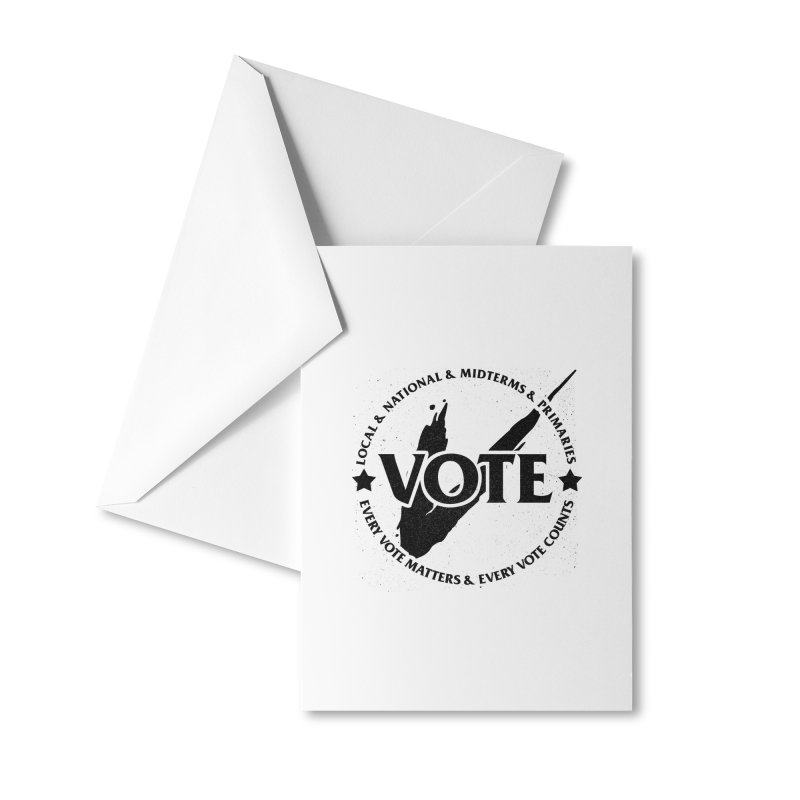 Vote (Dark Text) - Fair Fight Charity Design Accessories Greeting Card by JCP Designs - Original Designs by Jacob C. Paul