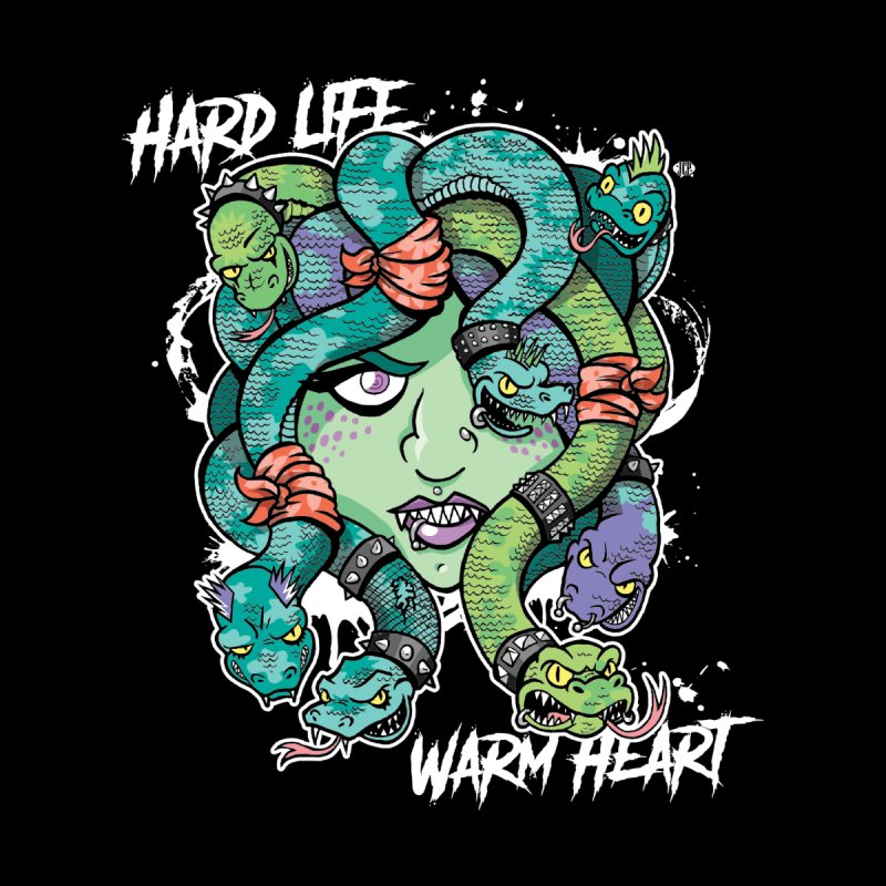 Hard Life, Warm Heart Men's T-Shirt by JCP Designs - Original Designs by Jacob C. Paul