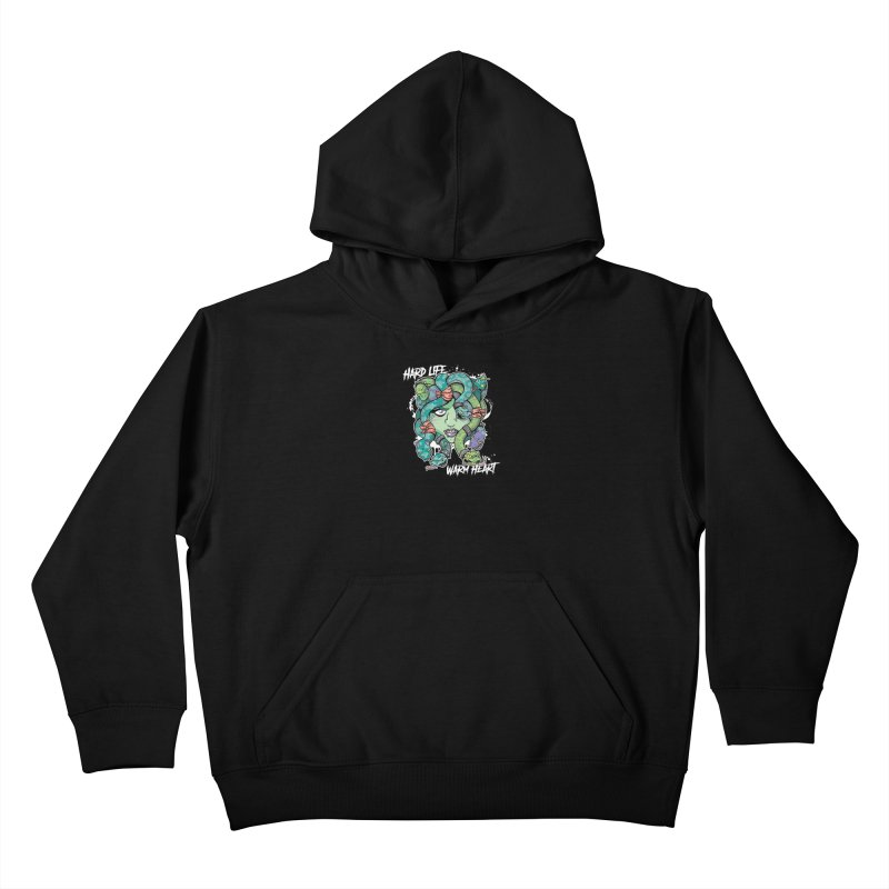 Hard Life, Warm Heart Kids Pullover Hoody by JCP Designs - Original Designs by Jacob C. Paul