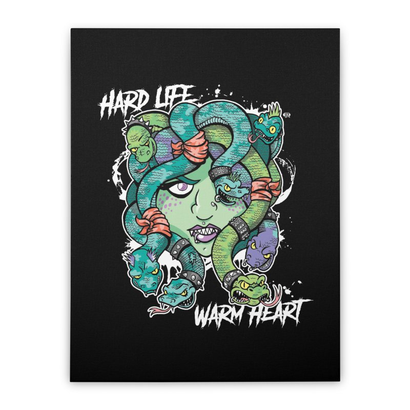 Hard Life, Warm Heart Home Stretched Canvas by JCP Designs - Original Designs by Jacob C. Paul
