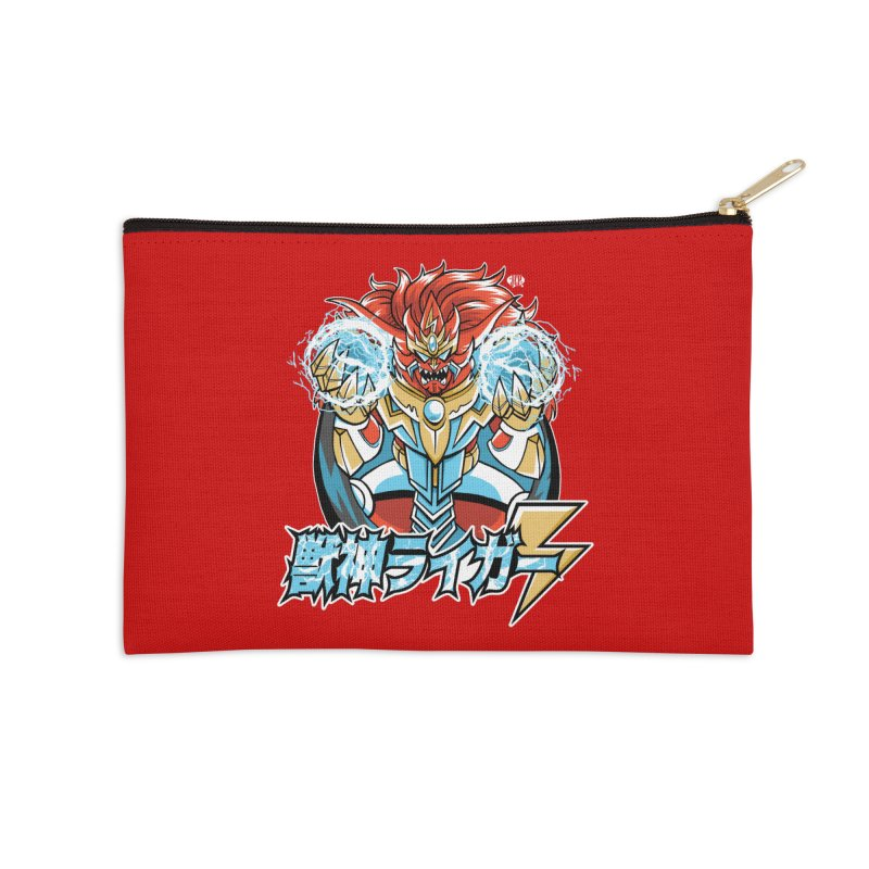 Beast King of Thunder - Stop AAPI Hate Charity Design Accessories Zip Pouch by JCP Designs - Original Designs by Jacob C. Paul