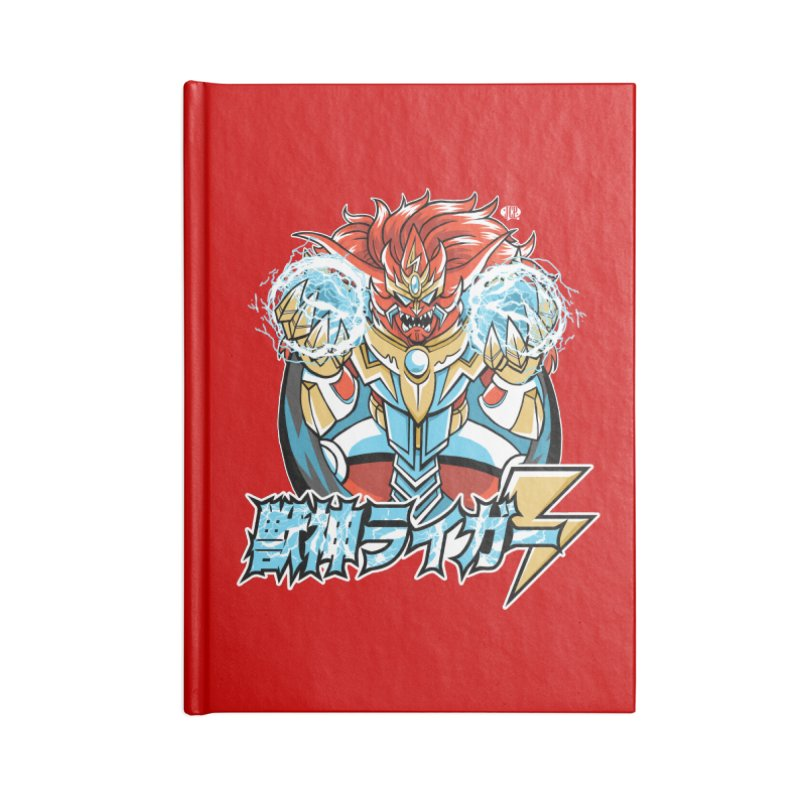 Beast King of Thunder - Stop AAPI Hate Charity Design Accessories Notebook by JCP Designs - Original Designs by Jacob C. Paul