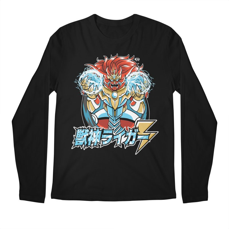 Beast King of Thunder, Black Version - Stop AAPI Hate Charity Design Men's Longsleeve T-Shirt by JCP Designs - Original Designs by Jacob C. Paul